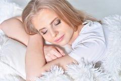 Woman Sleeping at home Royalty Free Stock Photo