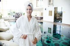 Young Woman Visiting SPA Stock Images