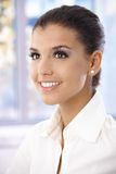 Portrait of beautiful young woman smiling Royalty Free Stock Photo
