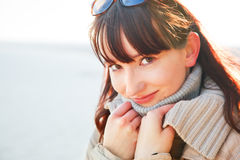 A portrait of a beautiful young woman on a sunny day. Royalty Free Stock Photo