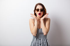 Portrait of beautiful young woman standing  Stock Images