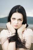 Portrait of a beautiful young woman in summer Royalty Free Stock Photography