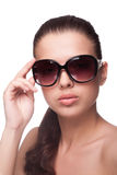 Portrait of beautiful young woman in sunglasses Royalty Free Stock Images
