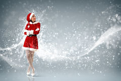 Attracive girl in santa clothes Royalty Free Stock Photo
