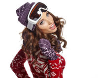 Portrait of beautiful young woman. winter style Stock Photography