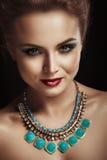 Portrait of beautiful young women. Black background. Studio light Royalty Free Stock Image