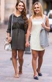 Portrait of beautiful young women having a walk Stock Image