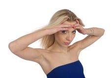 Portrait of beauty blond girl Stock Photos