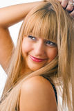 Portrait beauty blonde woman Royalty Free Stock Photography