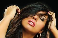 Portrait of beauty brunette girl royalty free stock photography