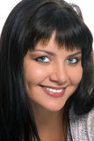 Portrait Beauty Eastern Brunette Woman Stock Photography