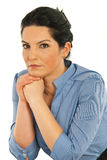 Portrait of beauty executive thinking Stock Photos