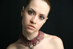 Portrait of beauty girl. Fashion art photo. Studio photo royalty free stock image