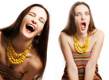 Portrait of beauty happy woman Stock Images