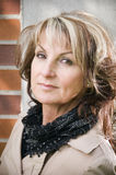 Portrait of beauty mature woman Royalty Free Stock Photo