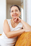 Portrait of beauty mature woman royalty free stock photos