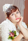 Portrait of a beauty redhead  bride Royalty Free Stock Photos
