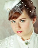 Portrait of a beauty redhead  bride Royalty Free Stock Image
