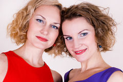 Portrait of beauty sisters Royalty Free Stock Photos