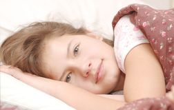 Portrait of beauty after the sleep Royalty Free Stock Image