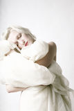Portrait of a beauty sleeping woman Stock Photos