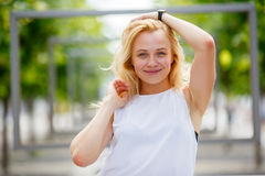 Portrait of beauty woman royalty free stock image