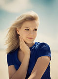 Portrait of a beauty woman outdoors Royalty Free Stock Photos