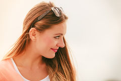 Portrait of beauty woman in summer Royalty Free Stock Photos