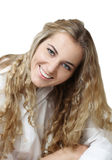 Portrait of the beauty young blond girl Stock Image