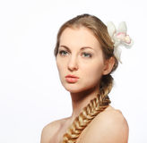 Portrait of the beauty young blond girl Royalty Free Stock Photo