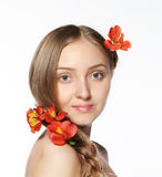 Portrait of the beauty young blond girl Royalty Free Stock Image