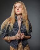 Portrait of the beauty young blond woman Royalty Free Stock Photo