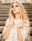 Portrait of the beauty young blond woman Stock Images