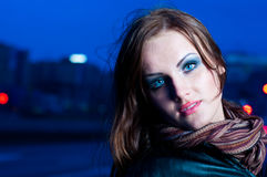 portrait of beauty young girl Stock Photography