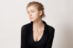 Portrait of a beauty young woman Royalty Free Stock Photography
