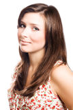 Portrait of a beauty young woman brunette royalty free stock images