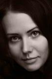 Portrait of the beautyful brunette Stock Images