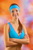 Portrait of a beautyful sports girl Royalty Free Stock Photography