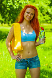 Portrait of beautyful sportsgirl Royalty Free Stock Photography