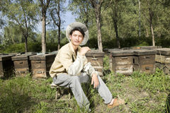Portrait of a beekeeper Royalty Free Stock Image