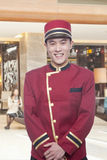 Portrait of Bellhop Stock Photo