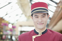 Portrait of Bellhop, Close-Up Stock Photography