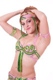 Portrait of belly dancer Stock Images