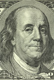 Portrait of Benjamin Franklin on the banknote in a hundred American dollars Royalty Free Stock Images