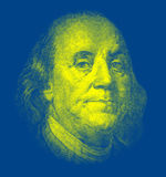 Portrait of Benjamin Franklin Stock Photos