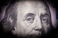 Portrait of Benjamin Franklin from one hundred Stock Images