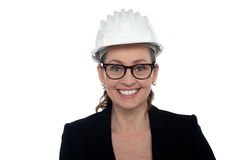 Portrait of a bespectacled female architect Royalty Free Stock Photography