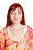 Portrait of woman with red hair Stock Image