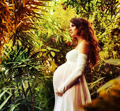 Portrait of a beuatiful young, pregnant woman Royalty Free Stock Photo