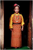 Portrait of bhutanese young girl Royalty Free Stock Photo